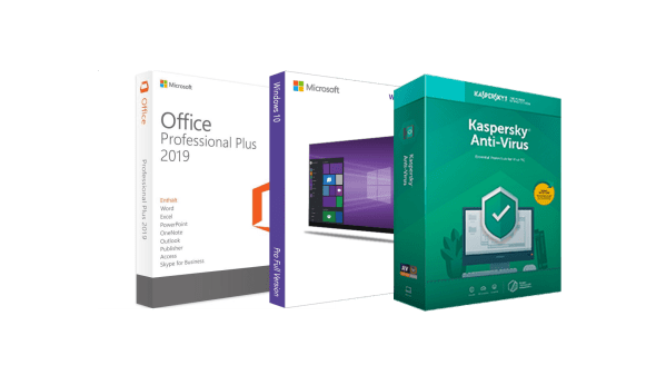Windows 10 Pro/Office 2019 ProPlus/Kaspersky Software Bundle