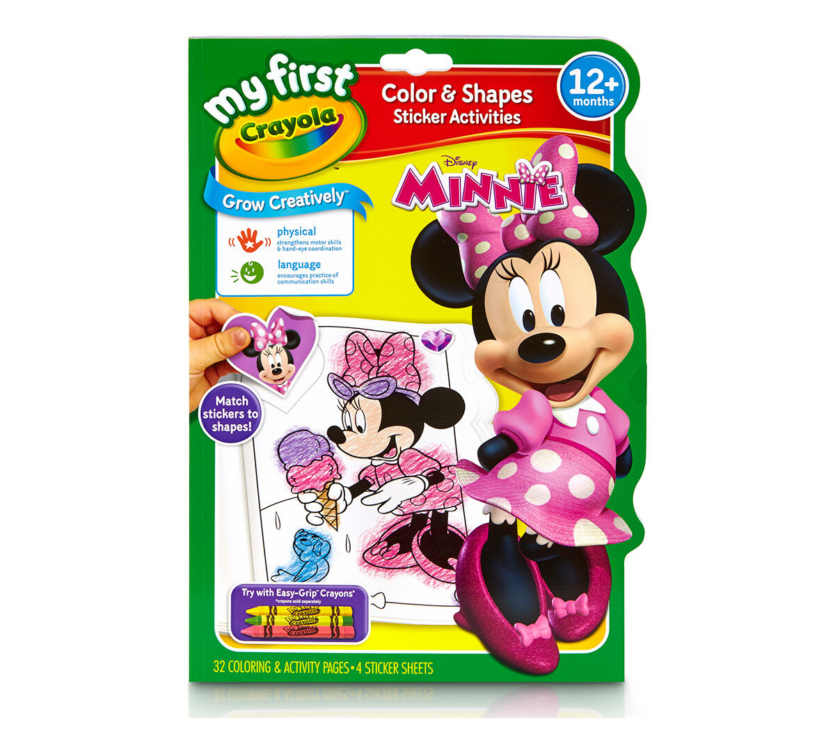 My First Crayola Color Shapes Sticker Activities Minnie Mouse Crayola