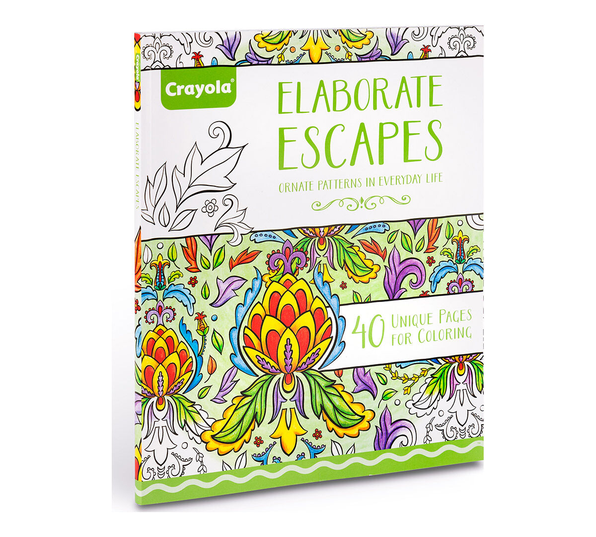 Crayola Elaborate Escapes Adult Coloring Art Activity 40 Pages Perforated Pages Easy Framing Crayola