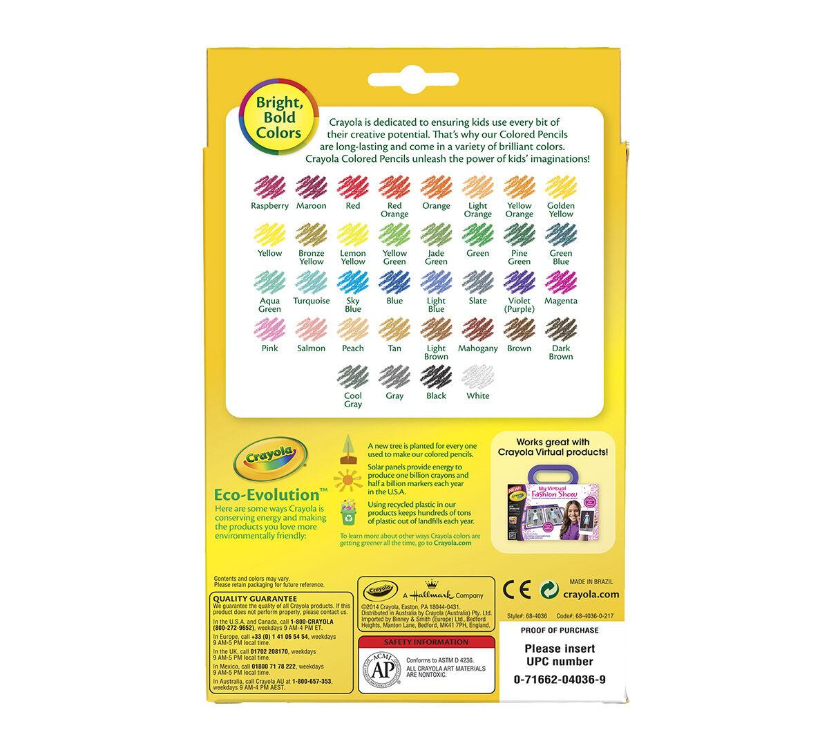 crayola color pencils # 55