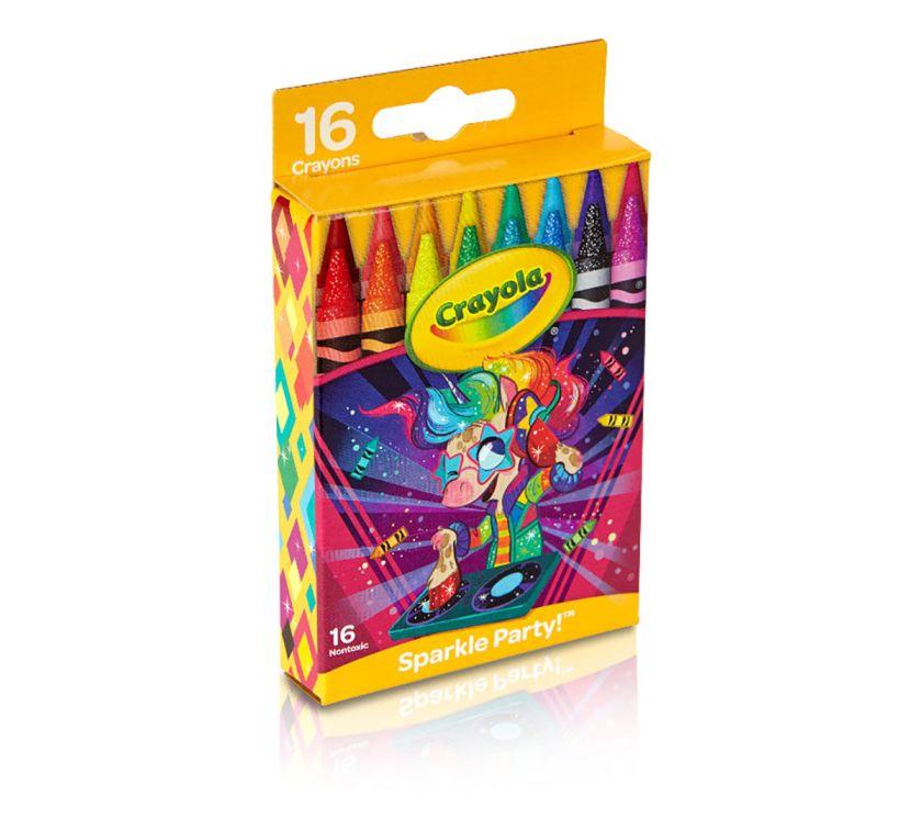 crayola 16 crayons coloring unicorn gift  crayola