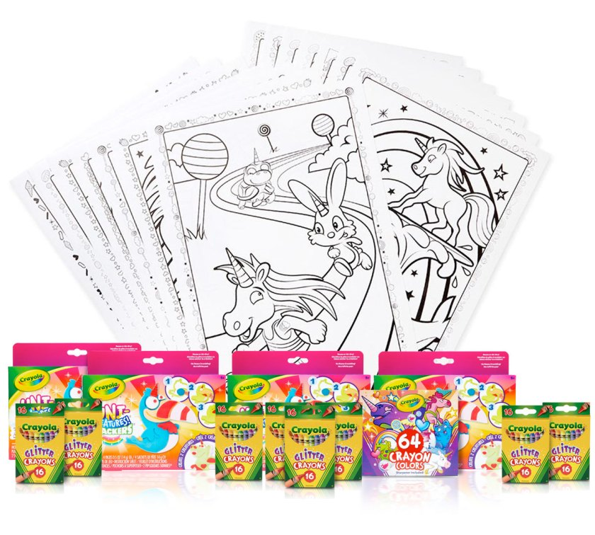 unicorn party activities & kids party favors  crayola