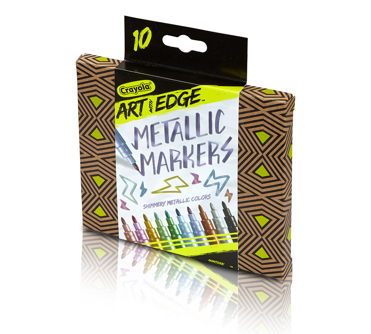 Crayola Art With Edge Metallic Markers Art Tools 10 Count Special Effects Coloring For