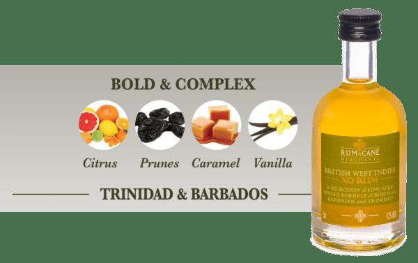 British West Indies XO rum & cane merchants Barbados Trinidad
