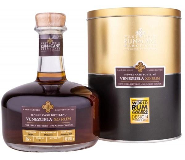 Venezuela XO rum single cask rum & cane merchants CACSA distillery