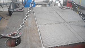 Наплавка плит машин литья под давлением