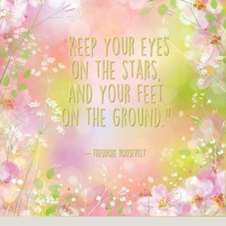 KEEP YOUR EYES ON THE STARS - pink panel – ready to embroider