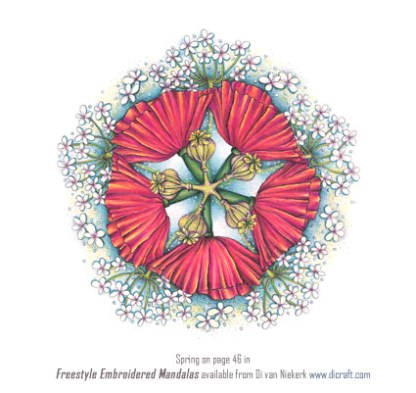 Freestyle Embroidered Mandalas – Spring Panel