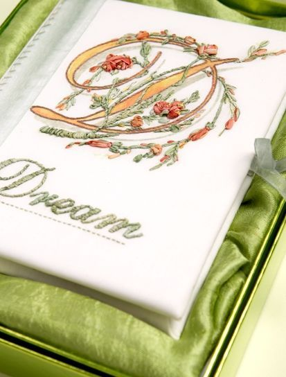 Dream Journal printed panel - ready to embroider