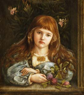 NL10 – Little girl embroidery panel, ready to embroider