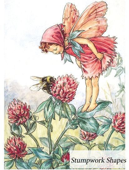 Red Clover Fairy  Stumpwork Shapes