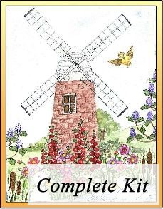 Ducks at the Windmill Embroidery Kit