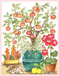 Apples and Lemons embroidery panel, ready to embroider