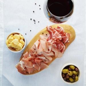 Italian meat selection
