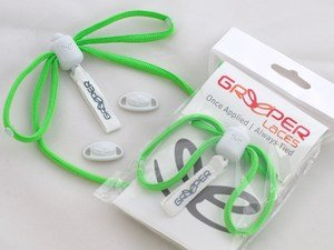Greeper green Sports laces
