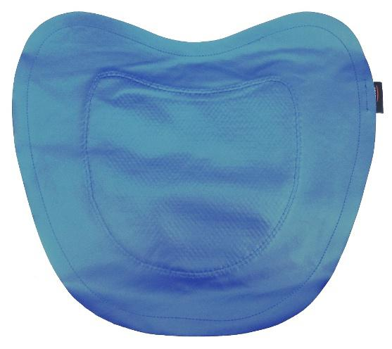 Front of Trabasack Curve Connect wheelchair lap tray non-slip mat
