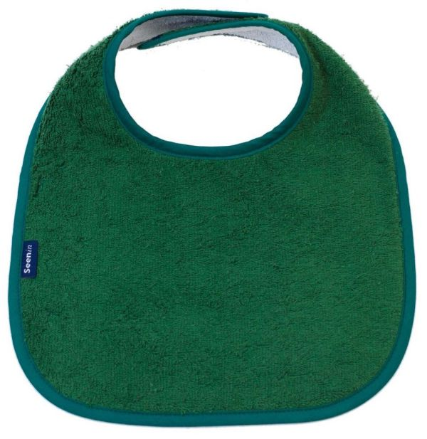 Seenin dribble bib for a disabled child in green