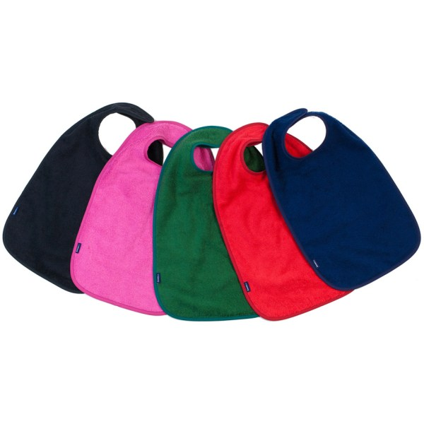 Seenin bib apron for disabled adults and children in black, pink, green, red and navy