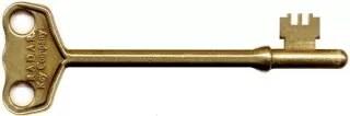 Small genuine brass RADAR key