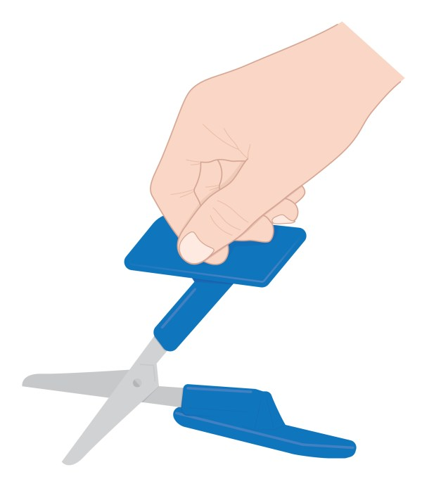 Illustration of Peta Easi-Grip push-down table-top scissors