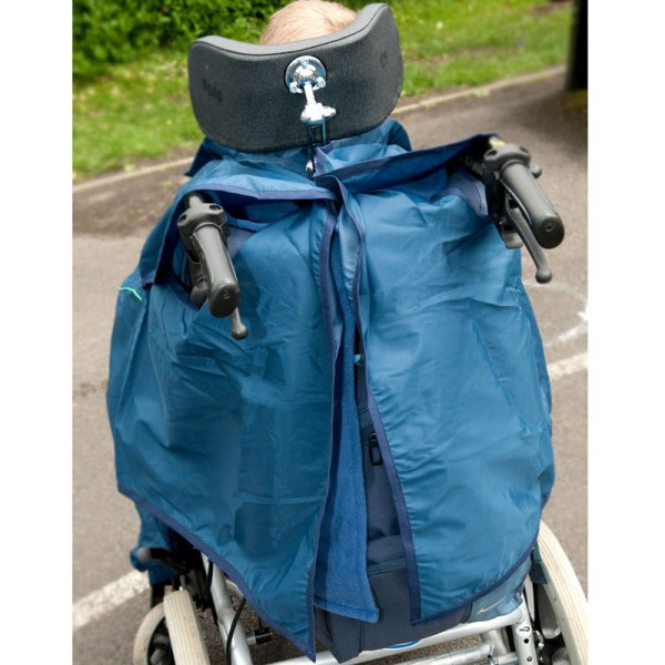Back of navy Seenin total waterproof wheelchair cover