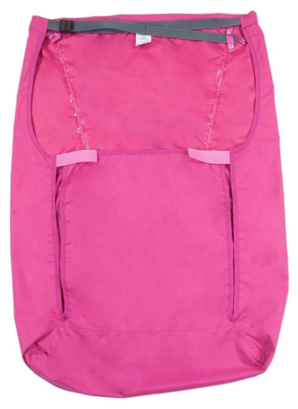 Back of pink Seenin fleece wheelchair leg cover