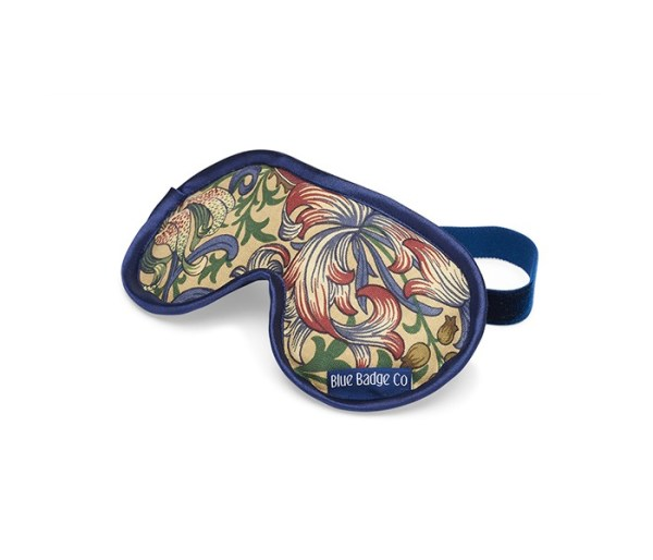 Eye mask in golden lily pattern
