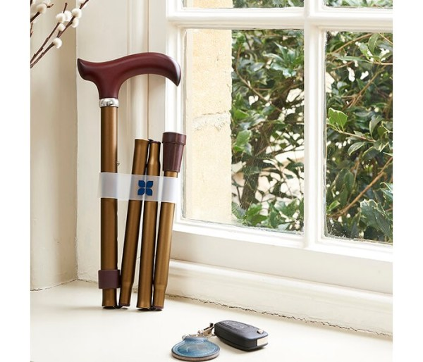 Bronze Folding Walking Stick
