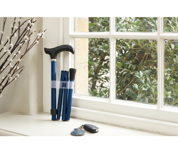Navy Folding Walking Stick