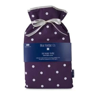 Spotty Grape Hot Water Bottle