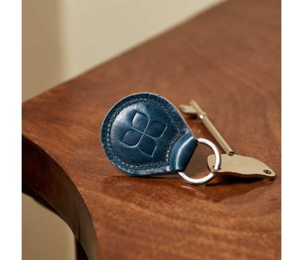 RADAR Key with Leather Keyring in Navy