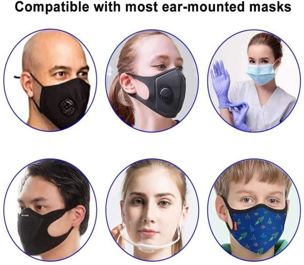 Compatible with most ear mounted masks.