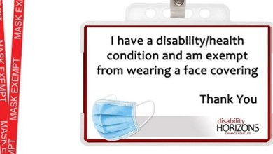 Photo of Mask exemption card proved essential for thousands of disabled people