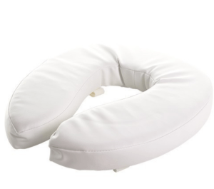 soft raised toilet seat 2""