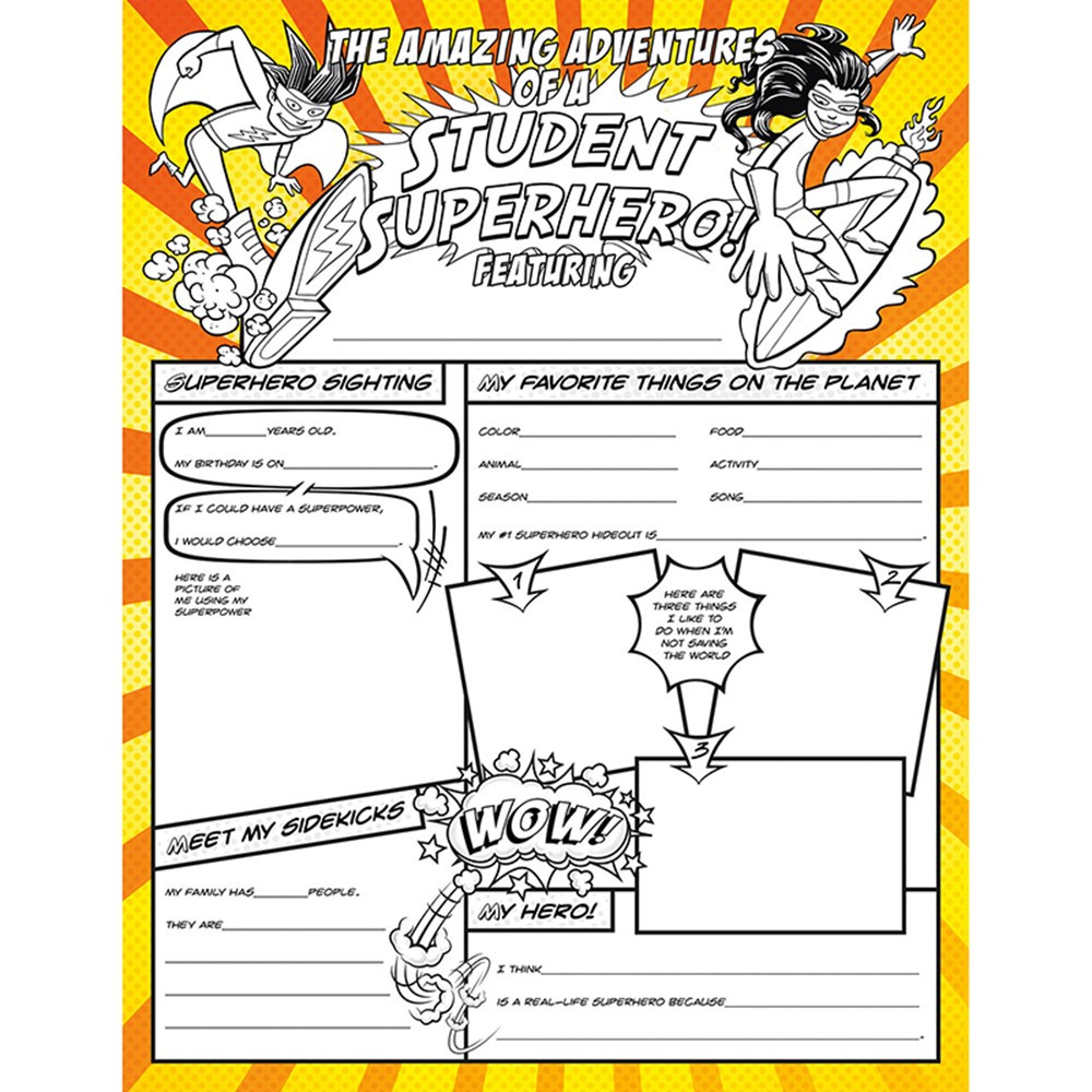 fill me in student superhero pack of 32