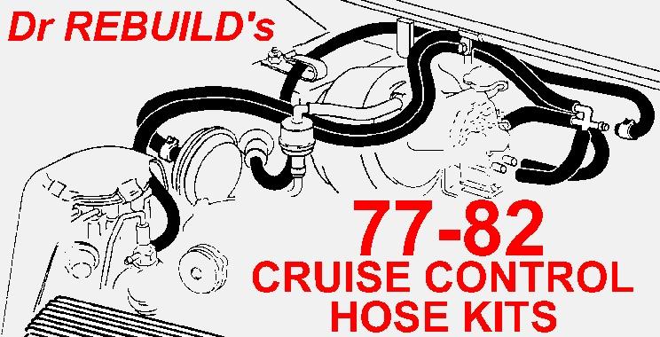 1977 Corvette Cruise Control Ribbed Vacuum Hose Kit