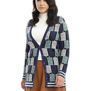 Doctor Who TARDIS Print Cardigan