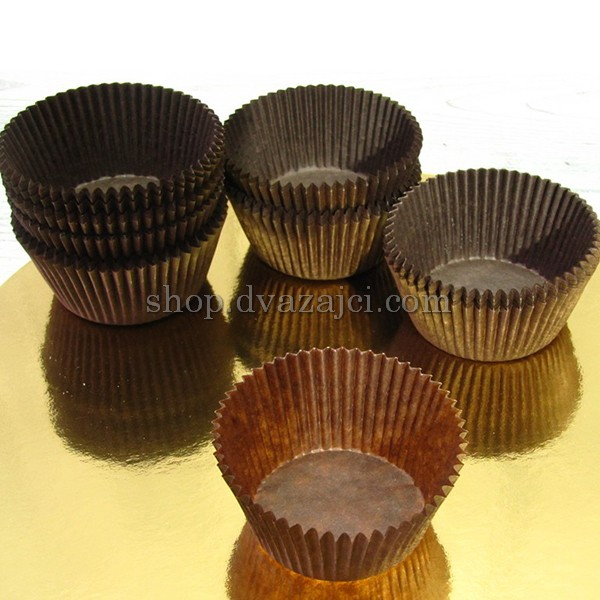 Бумажный стаканчик для кекса 5030 коричневый