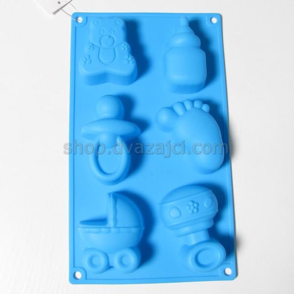 Форма силиконовая для кексов Новорожденный