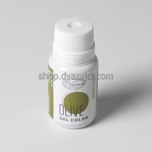 Краситель гелевый Criamo 10г оливковый