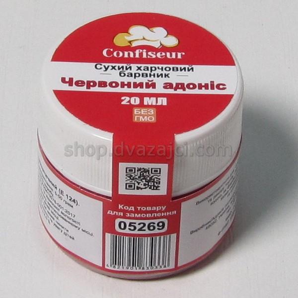 Краситель сухой Confiseur 20мл Красный адонис
