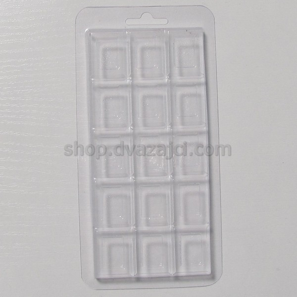 Форма пластиковая Шоколад плитка 15х7 см