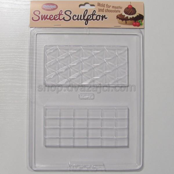 Форма пластиковая Шоколадные плитки 2 шт