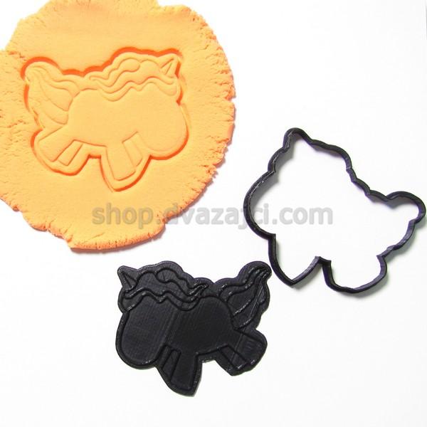 Форма для печенья Единорог #2 9см