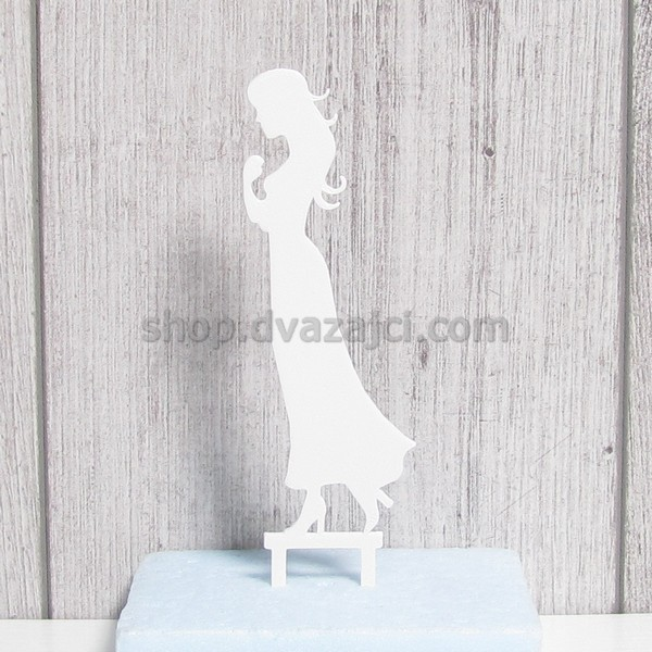 Топпер Невеста белый