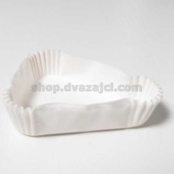 Бумажный стаканчик 100х80х24 белый 10 штук