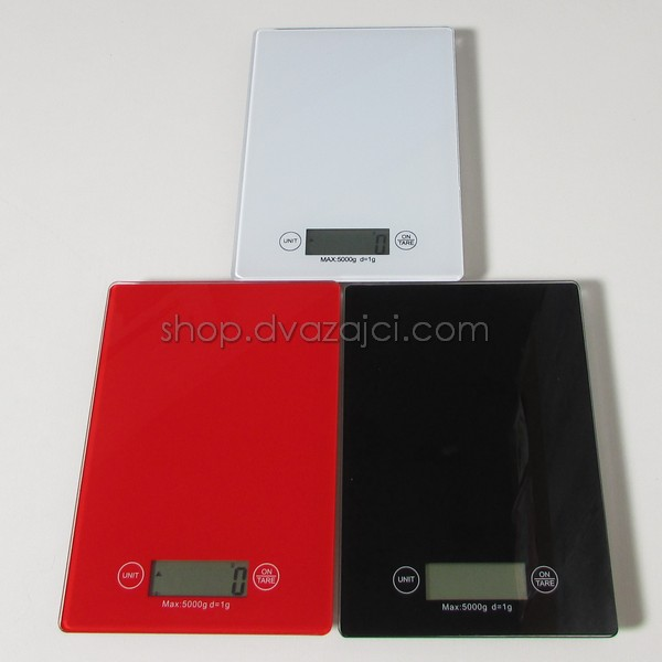 Весы кухонные TSEC стеклянны 5 кг