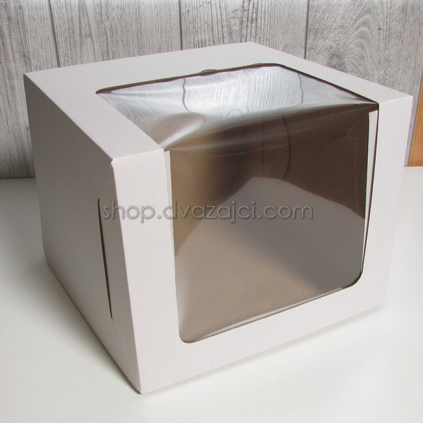 Тортовая упаковка 250х250х200 с окном