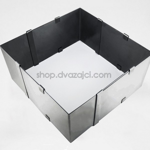 Раздвижная квадратная форма для выпечки h = 85 мм