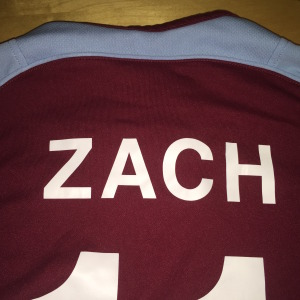 Emley AFC Club Shop - Personalised name on kit